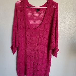 Torrid plus size pink knitted top